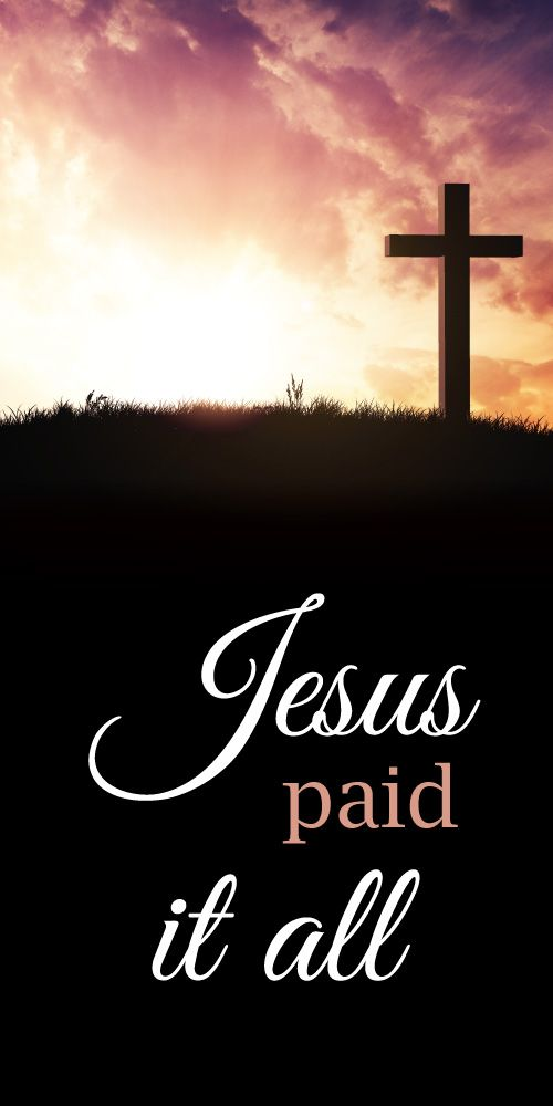 Church Banner - Easter - Jesus Paid