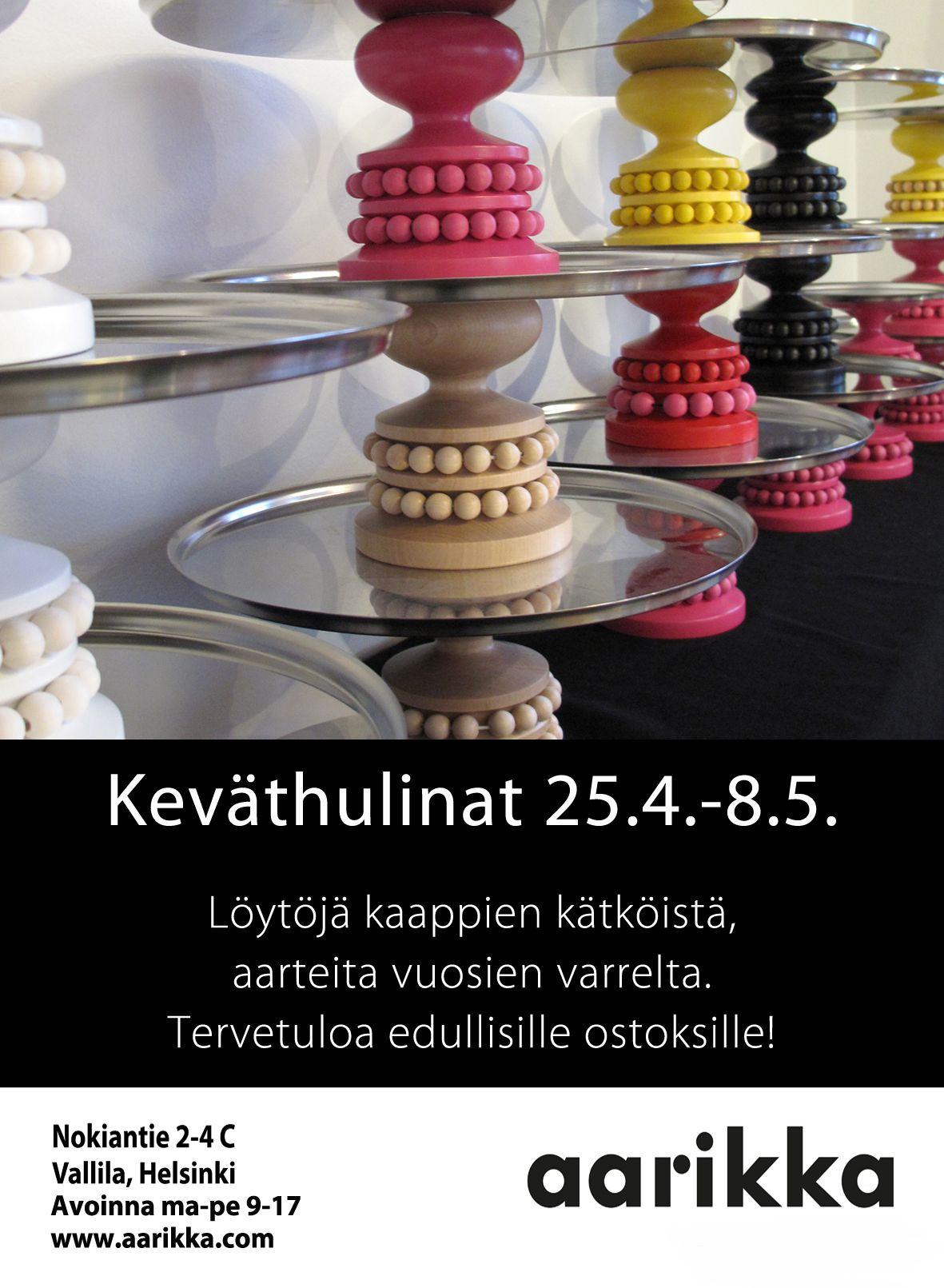 Keväthulinat 25.4.-8.5.2013. Tule tekemään löytöjä. Myynnissä poistotuotteita, II-laatuisia tuotteita ja erikoiseriä.