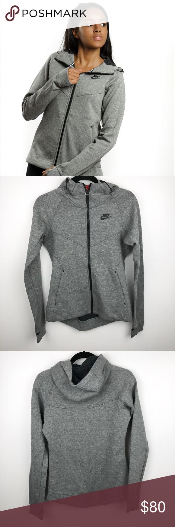 Women's Nike Tech Fleece Grey Hoodie Nike tech fleece