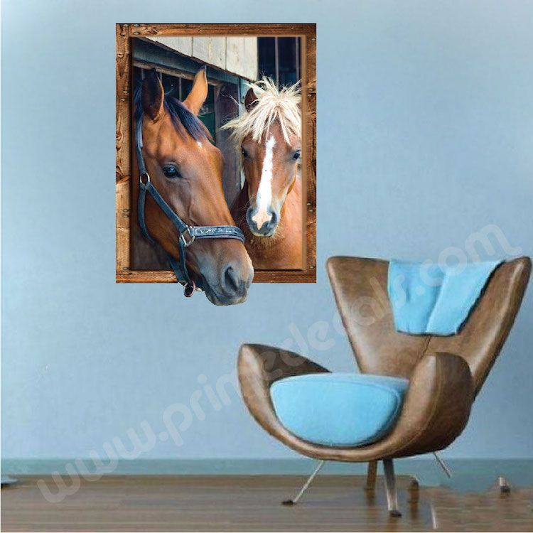 horse frame wall decal - large wall decals - primedecals | modern