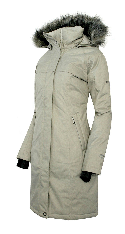 New womens COLUMBIA Flurry Run Down Jacket Omni Heat waterproof long winter coat