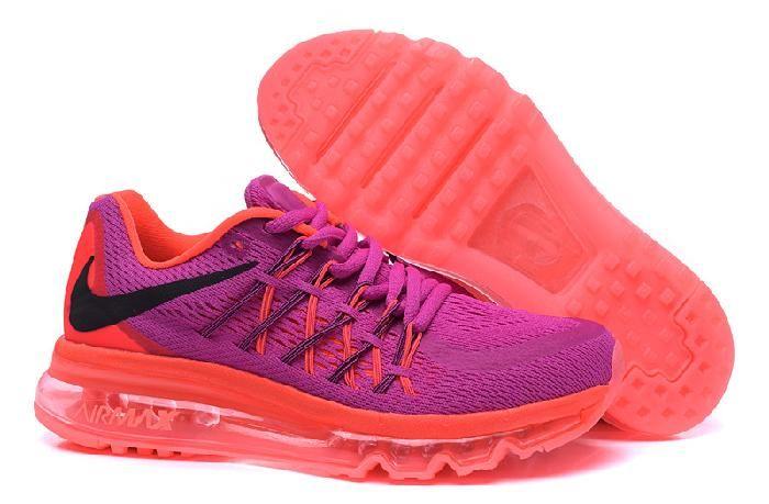 Nouvelle Nike Air Max 2015 Chaussures De Course Pour Femme Violet Orange  Sur La Vente Avec