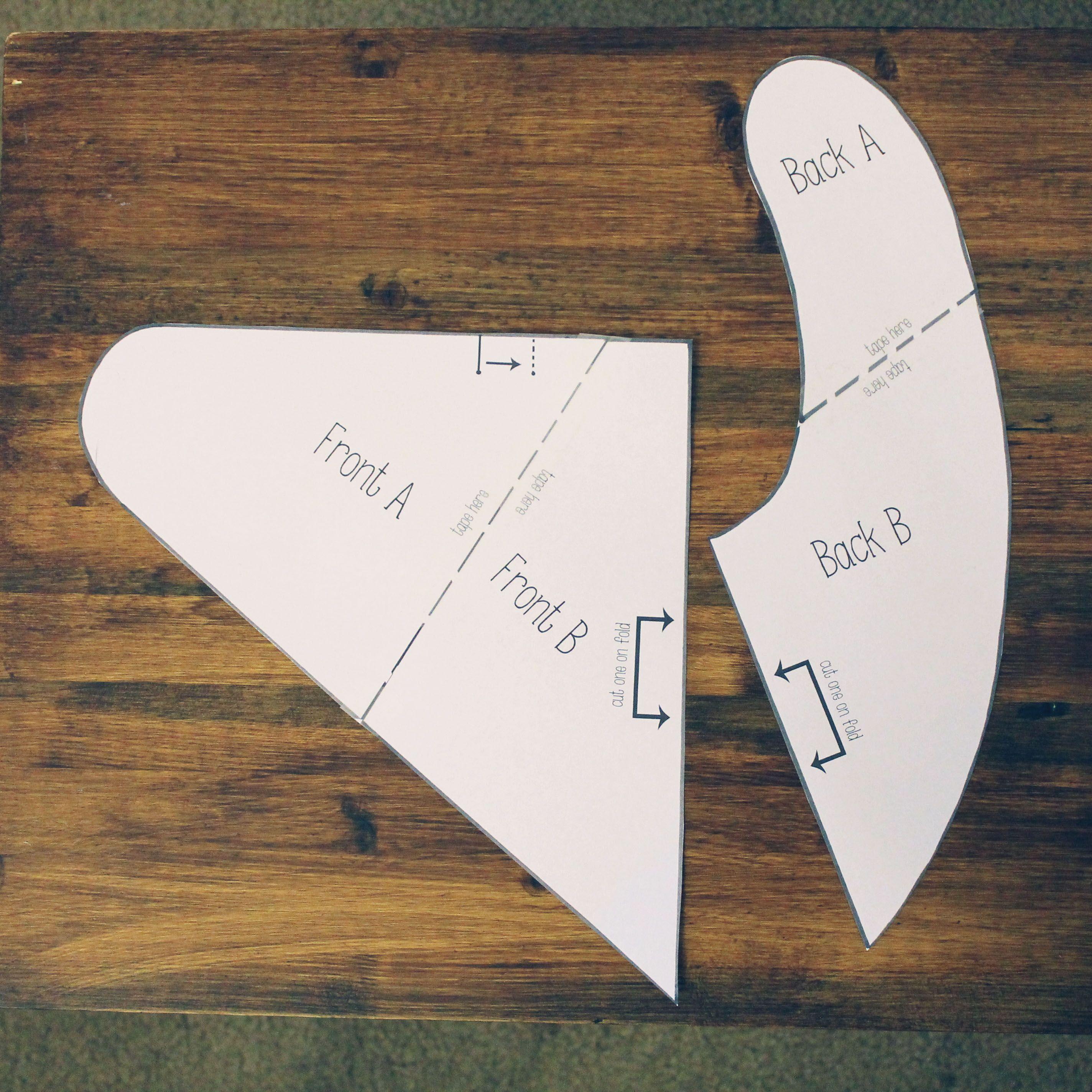 Free Bandana Bib Pattern | Halstuch, Kostenlos und Schnittmuster