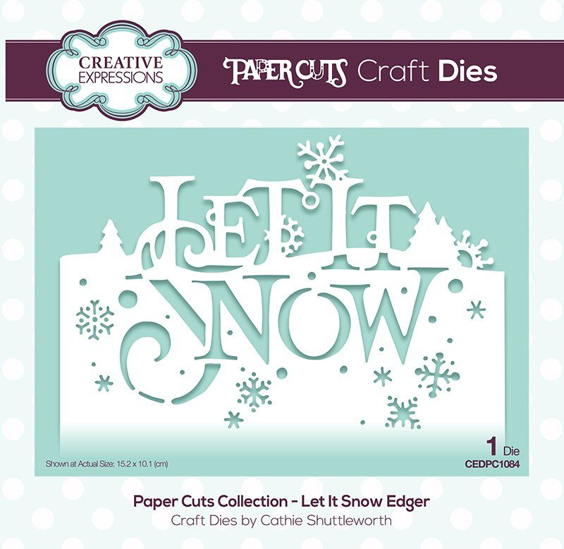 "10  Diecut   "" Let It Snow""  sentiments"