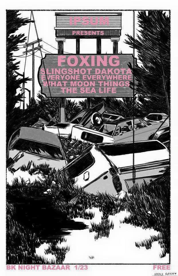Brooklyn Night Bazaar Foxing, Slingshot Dakota, Everyone