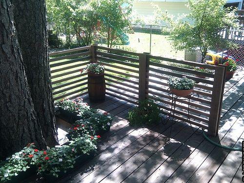 Good Idea For Deck Railing Barandal Para Terrazas