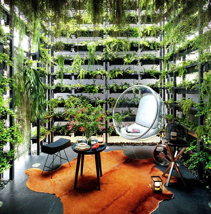 The Vertical Garden In This House Reconnects The Residents With Nature