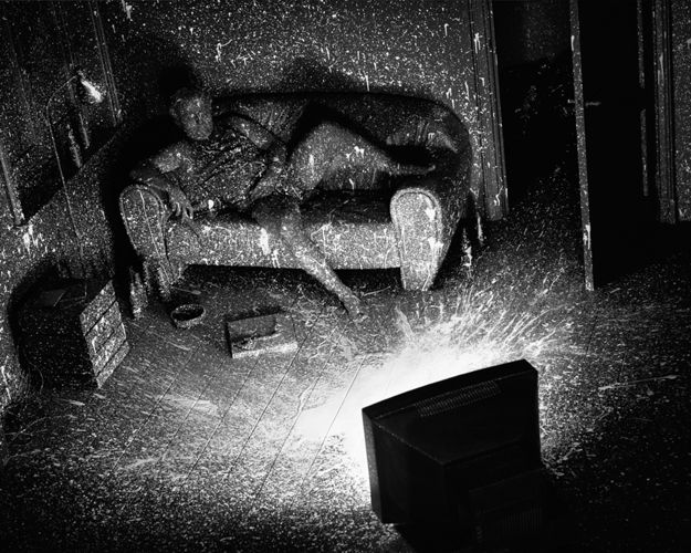 And Then It Hit Me by Jaap Vliegenthart #explosion #blackandwhite #bw #paint #emotional