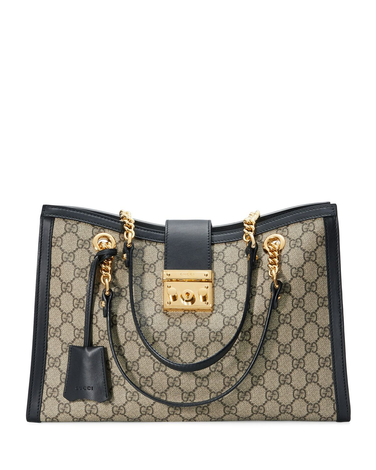 74bde1a58e2410 Gucci Padlock GG Supreme Canvas Medium Shoulder Bag | Bags | Gucci ...