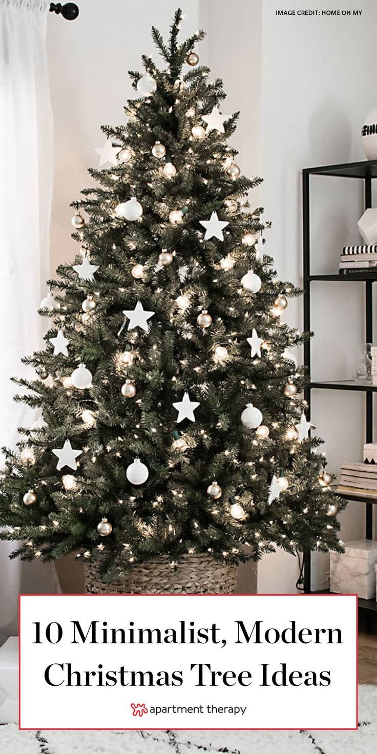 Incredibly Chic Modern Minimalist Christmas Trees -   17 christmas tree inspiration simple ideas