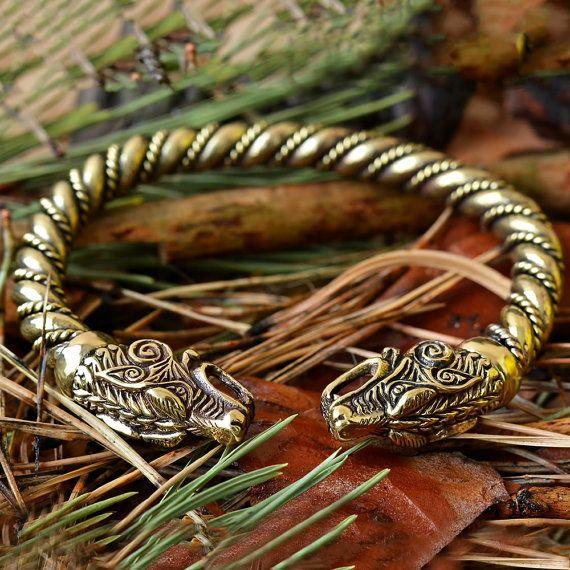 Viking Wolf Bracelet Fenrir Bracelet Vikings Jewelry Viking Wolves