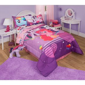 My Little Pony Twin Or Full Bedding Comforter 1 Each Walmart Com My Little Pony Bedroom Pony Bedroom My Little Pony Bedding