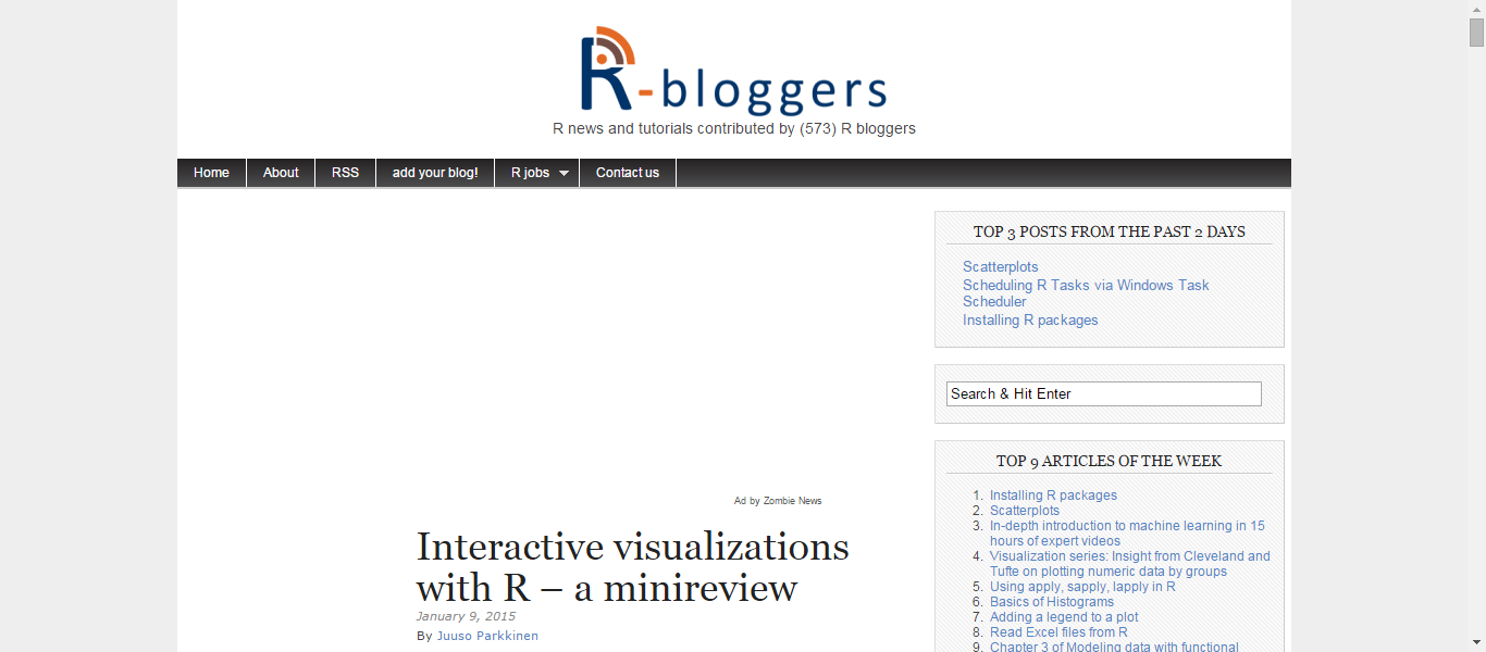 Interactive visualizations with R a minireview