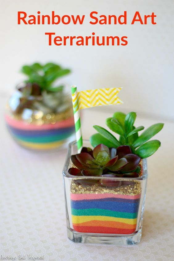 Rainbow Sand Art Terrariums Projects To Try Pinterest Sand Art