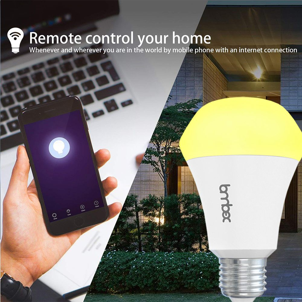 Lombex E27 10W Dimmable Warm White To Daylight WIFI APP