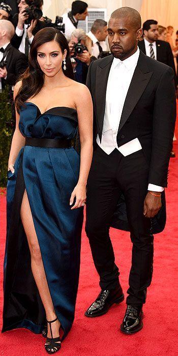 Kim Kardashian and Kayne West. Met Gala 2014