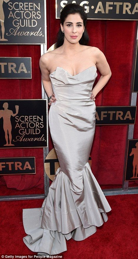 Catch of the day: Best Actress nominee Sarah Silverman highlighted her stunning curves in ...