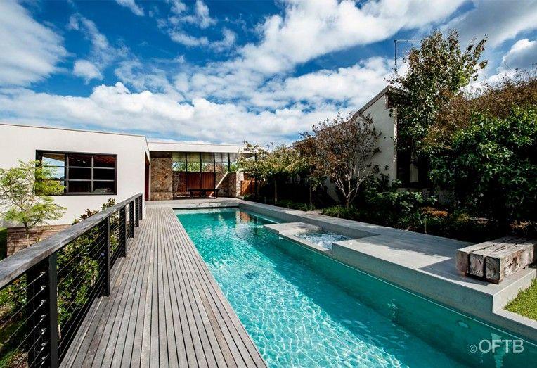 OFTB Melbourne Landscaping, Pool Design U0026 Construction Project   Lap Pool U0026  Spa Inc Automatic