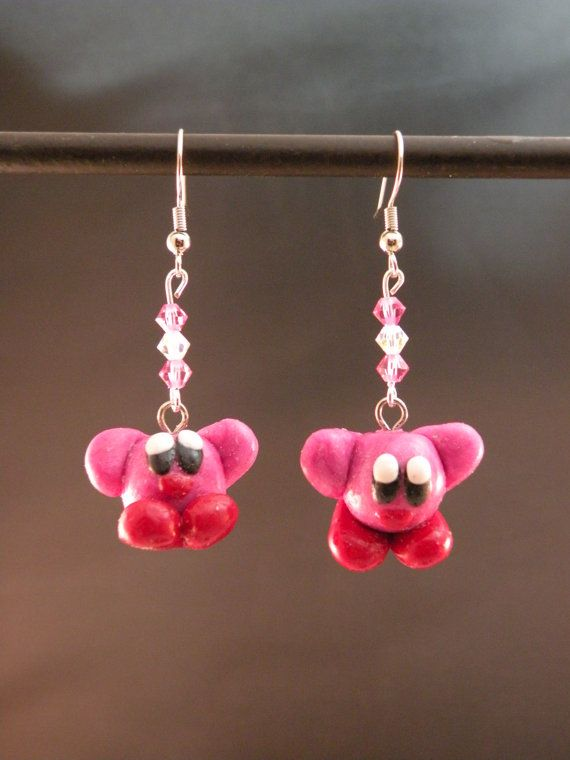 Kirby Earrings by MadHouseTrinkets on Etsy, $15.00