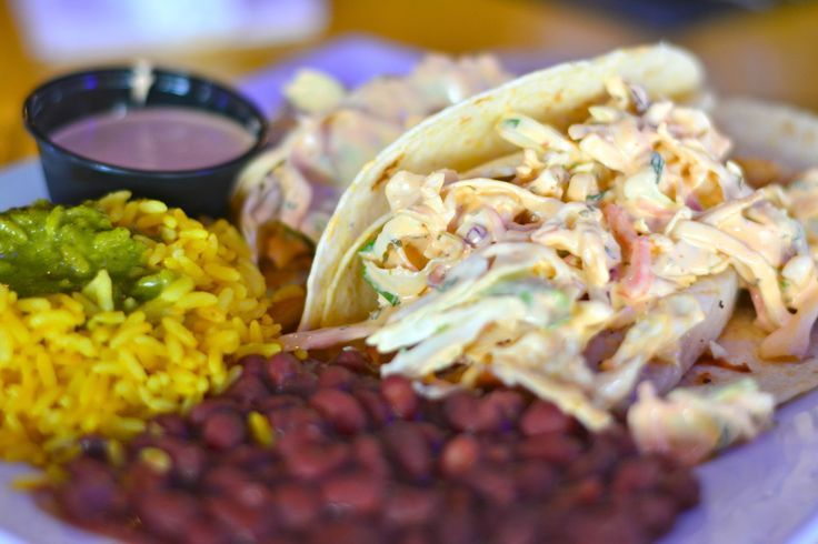 Fish tacos The Hub Baja Grill Siesta Key Village Sarasota, Florida.