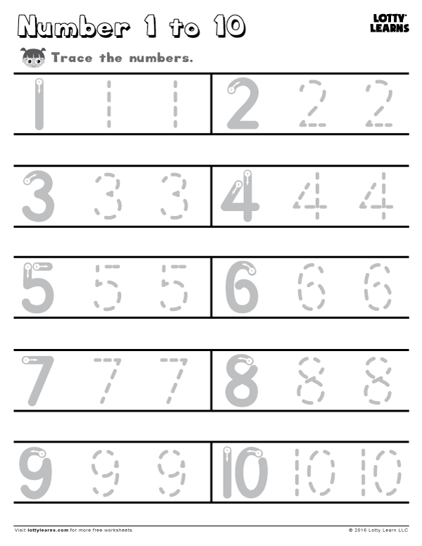 learn to write the numbers from 1 to 10 follow the arrows for the correct way to write the. Black Bedroom Furniture Sets. Home Design Ideas