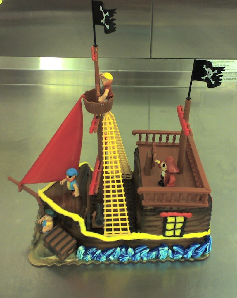 Pirate Ship Cake Kit. By Lisa Parsons