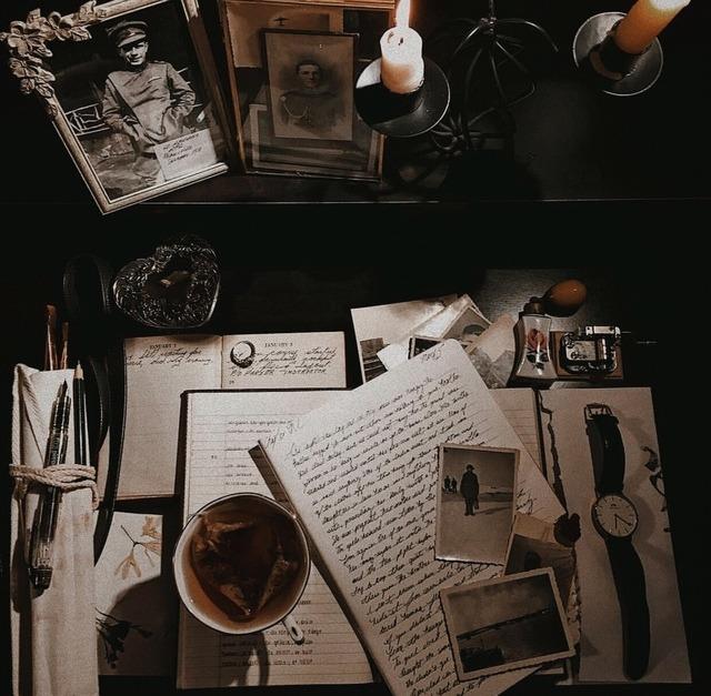 Dark Academia Aesthetic Background