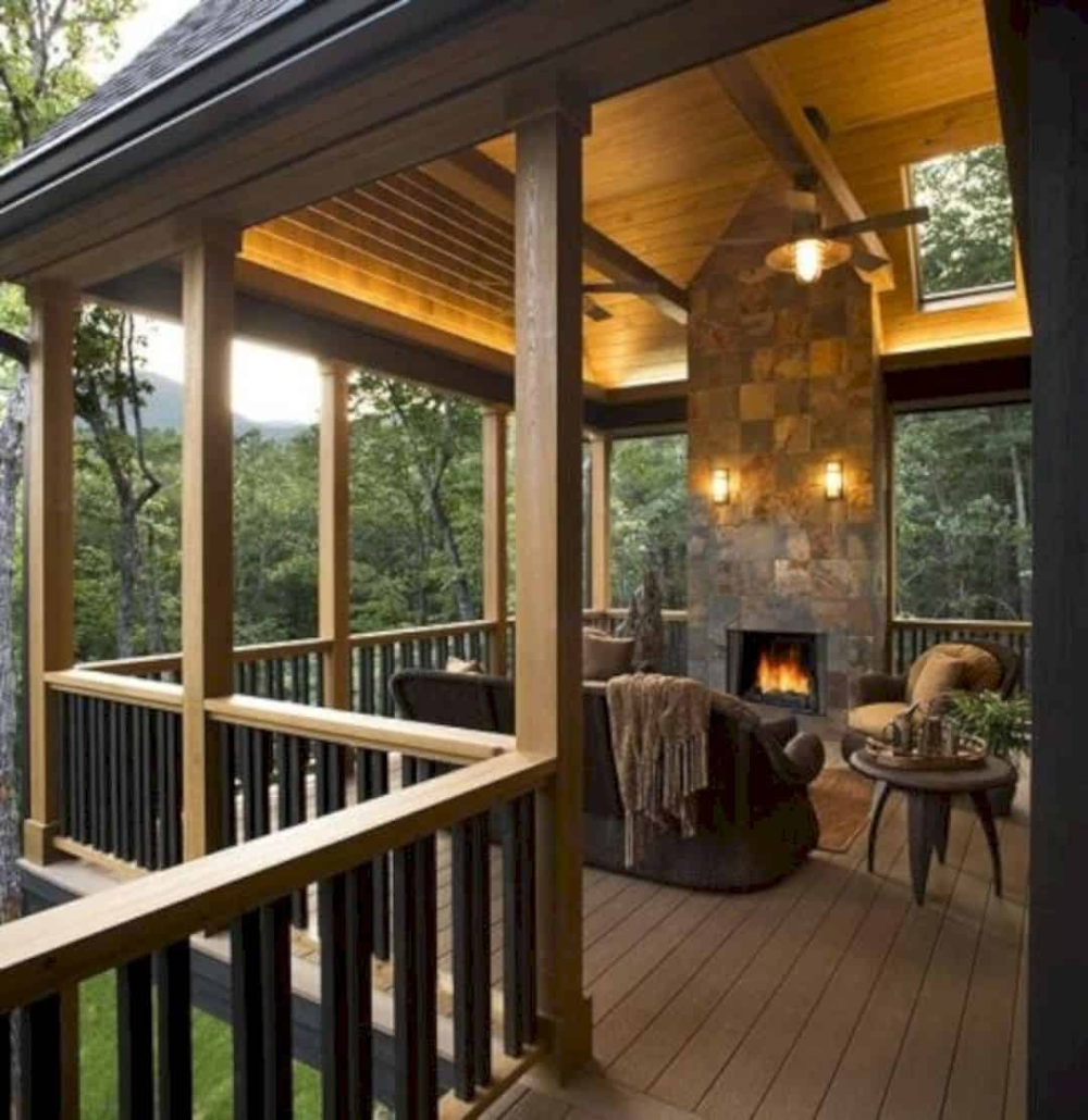 8 Ways To Have More Appealing Screened Porch Deck In 2020 Outdoor Remodel Backyard Fireplace Outdoor Rooms