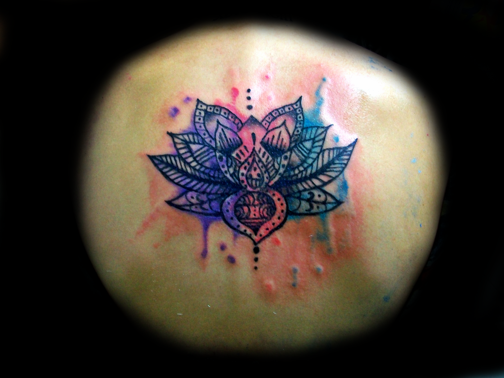 Lotus flower watercolor tattoo by daft art by thejjoy on deviantart lotus flower watercolor tattoo by daft art izmirmasajfo Image collections