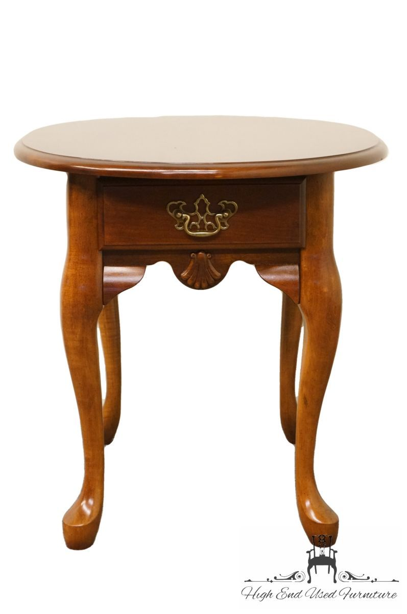 High End Cherry Queen Anne 21 End Lamp Table In 2020 Mahogany