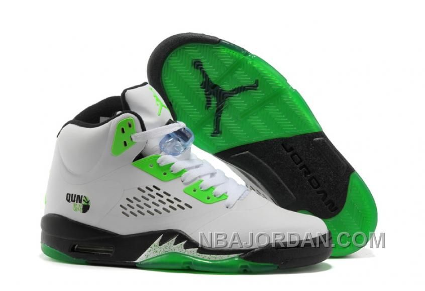 Buy Discount To Buy For Sale 2013 Air Jordan 5 V Retro Womens Shoes White  Grey Green from Reliable Discount To Buy For Sale 2013 Air Jordan 5 V Retro  Womens ... bd8166c8a