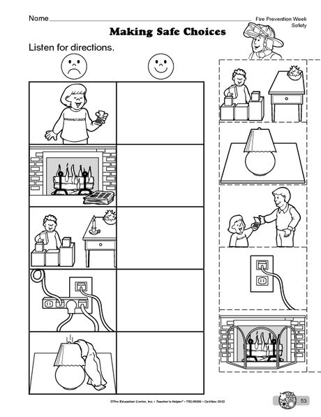 Science Worksheet Fire Safety The Mailbox Fire Safety Worksheets Fire Safety For Kids Teaching Safety