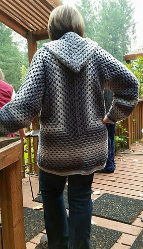 382fa970b673b Ravelry  LunaRaevn s The Campfire Cardigan in Red Heart Ombre Anthracite