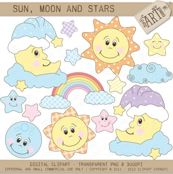 Sun Moon And Stars Baby Dreams Luvly Moon Stars Baby Shower Baby Clip Art Baby Star