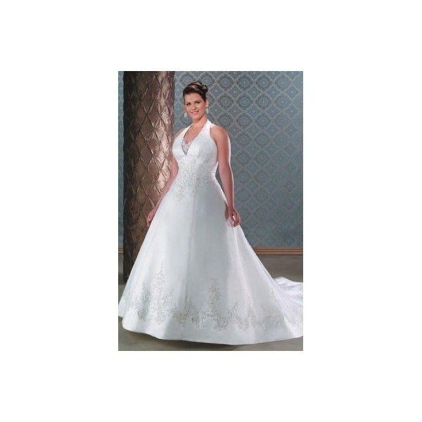 Princess Halter Chapel Train Plus Size Wedding Dresses [KPS0014] via Polyvore