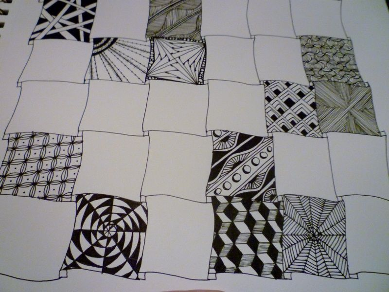 zentangle patterns step by step | Zentangle Patterns Step By Step
