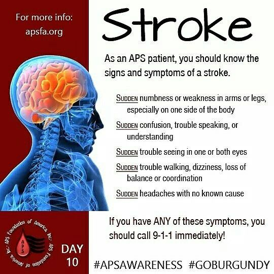 Aps Awareness Month Day 10 Let S Talk About The Symptoms Of A Stroke Stroke Is A Common Feature Antiphospholipid Syndrome Invisible Disease Stroke Nursing