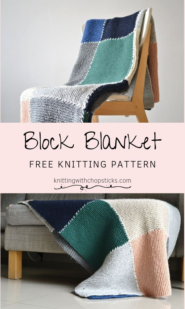 Photo of Block Blanket | Knitting with Chopsticks