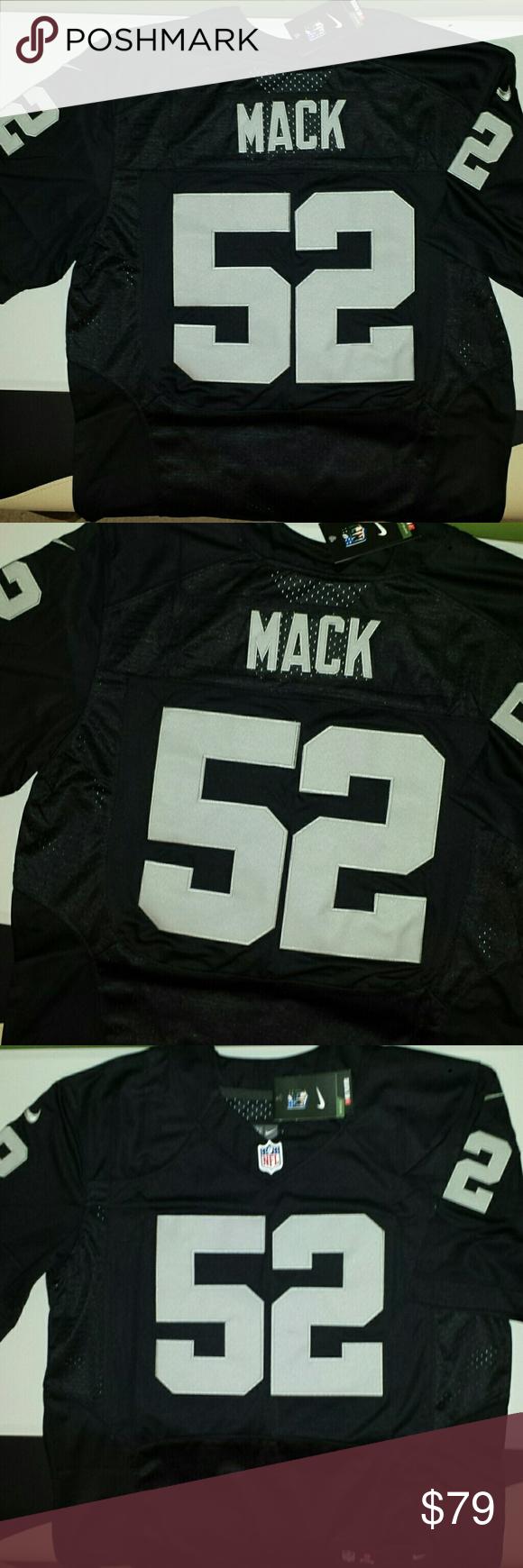 the best attitude b5f78 d12d7 Khalil Mack Oakland Raiders Jersey New!! Stitched n ...