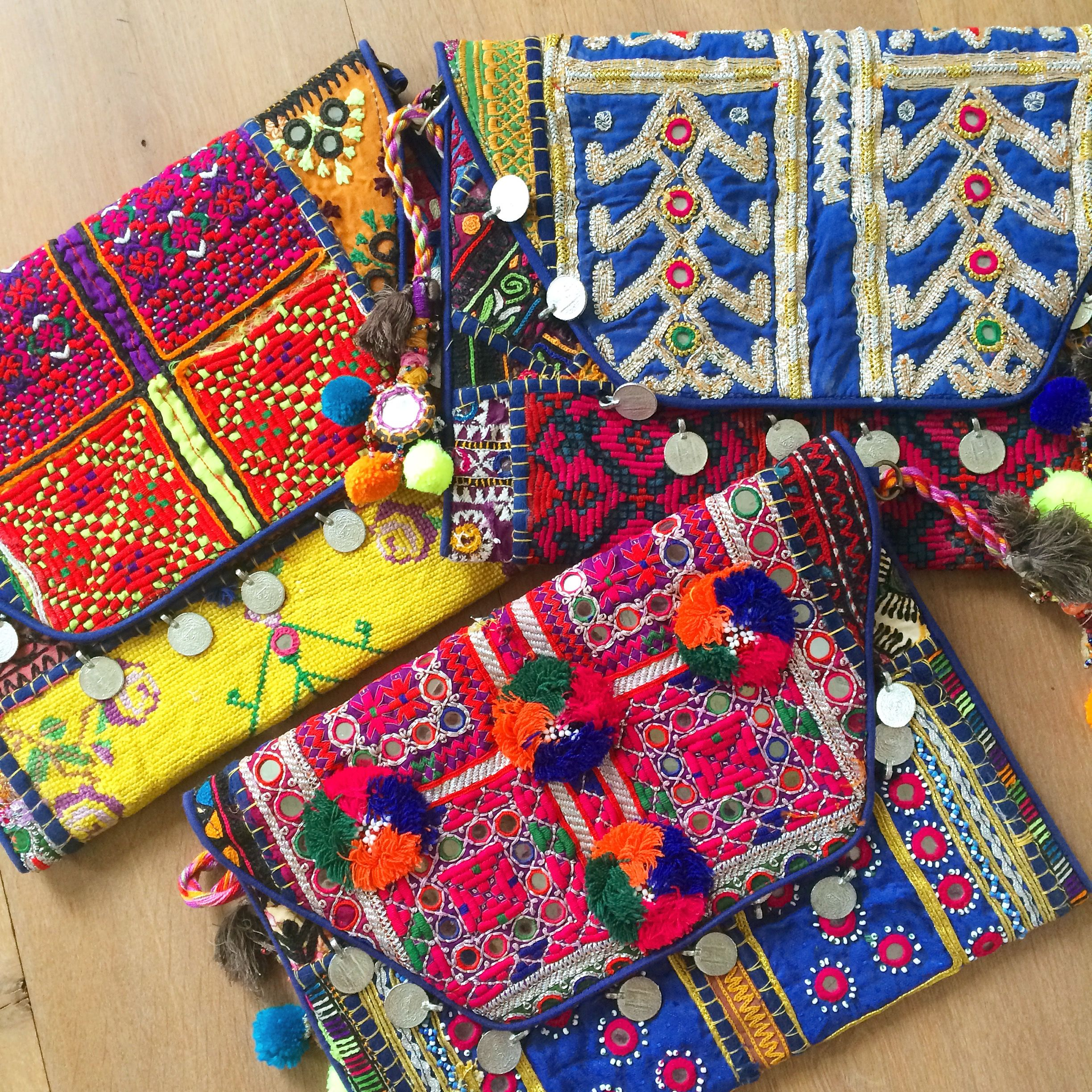 Bohemian clutches from Le Souk