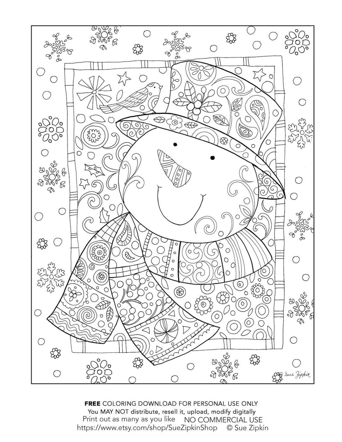 Free Christmas Coloring Pages for adults (and older kids ...