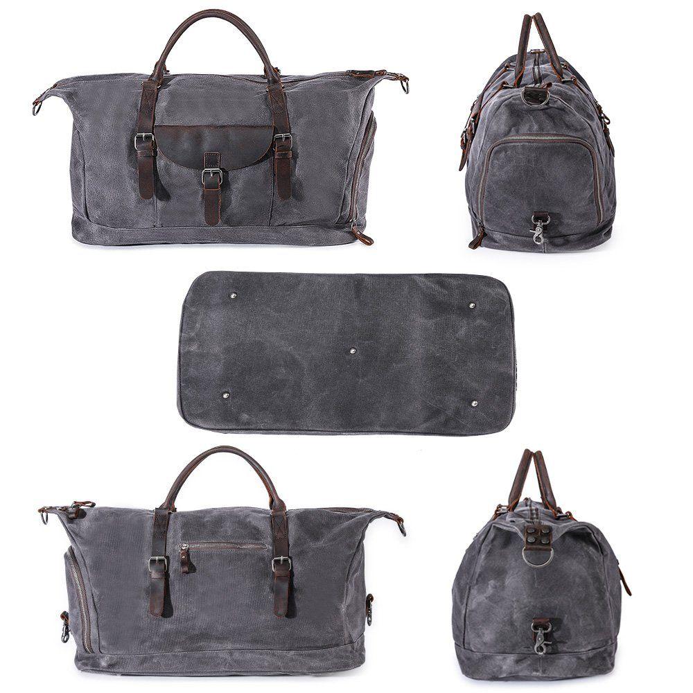 bd37c2205e 22 Travel Luggage Bag Large Canvas Duffel Bag Portable Sports Hand Bag for Women  Men Vintage