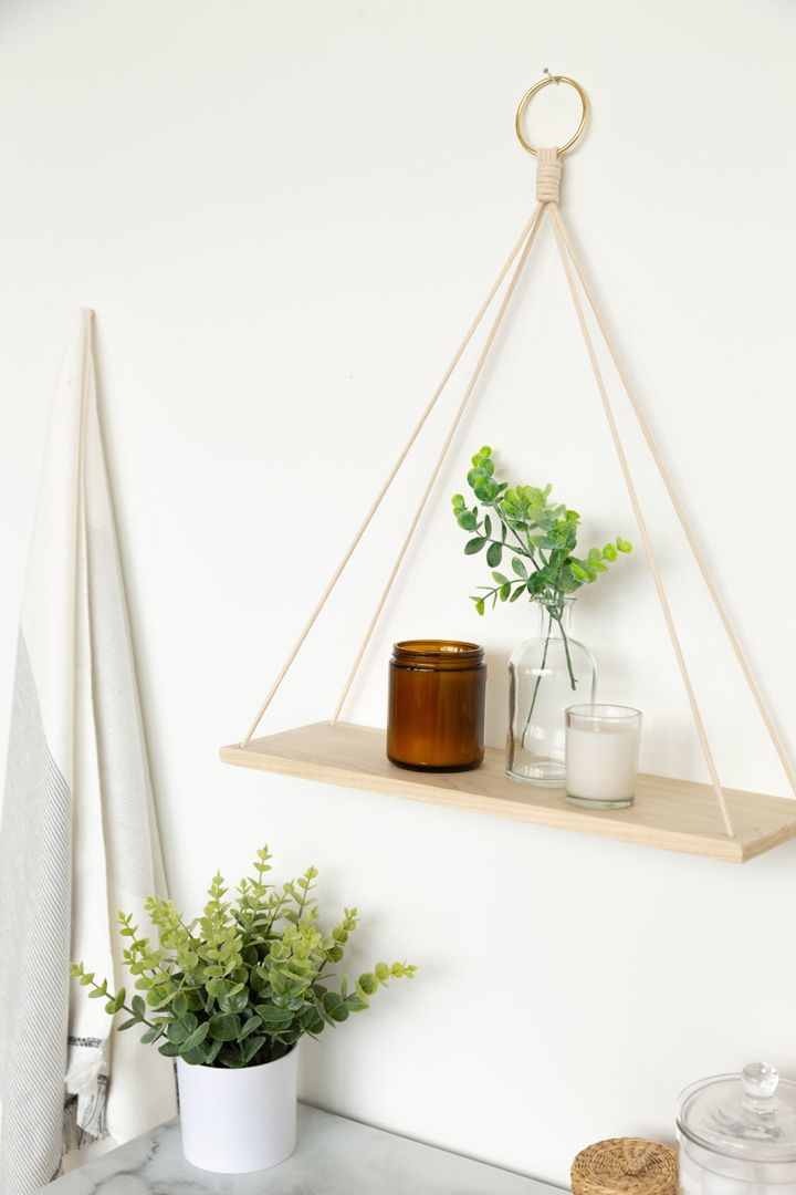 Photo of Hanging Wall-Mounted Shelf DIY for Literally Any Bathroom | Hunker