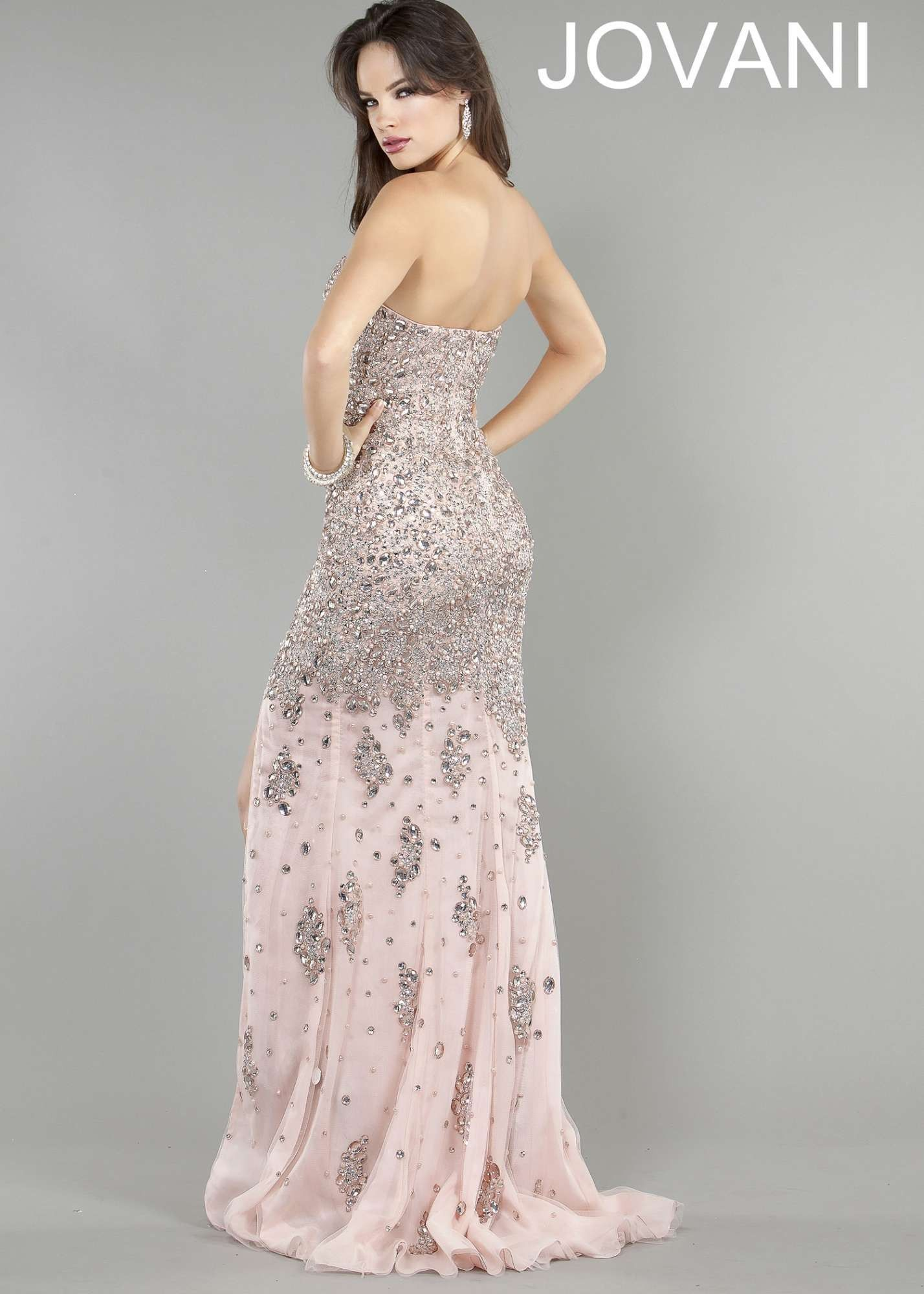 Jovani fitted long dress gray color dress pinterest