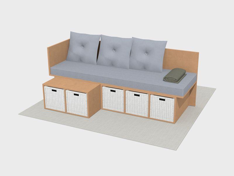 Bettsofa selber bauen Möbelreihe Poofen - Möbel selber bauen aus OSB ...