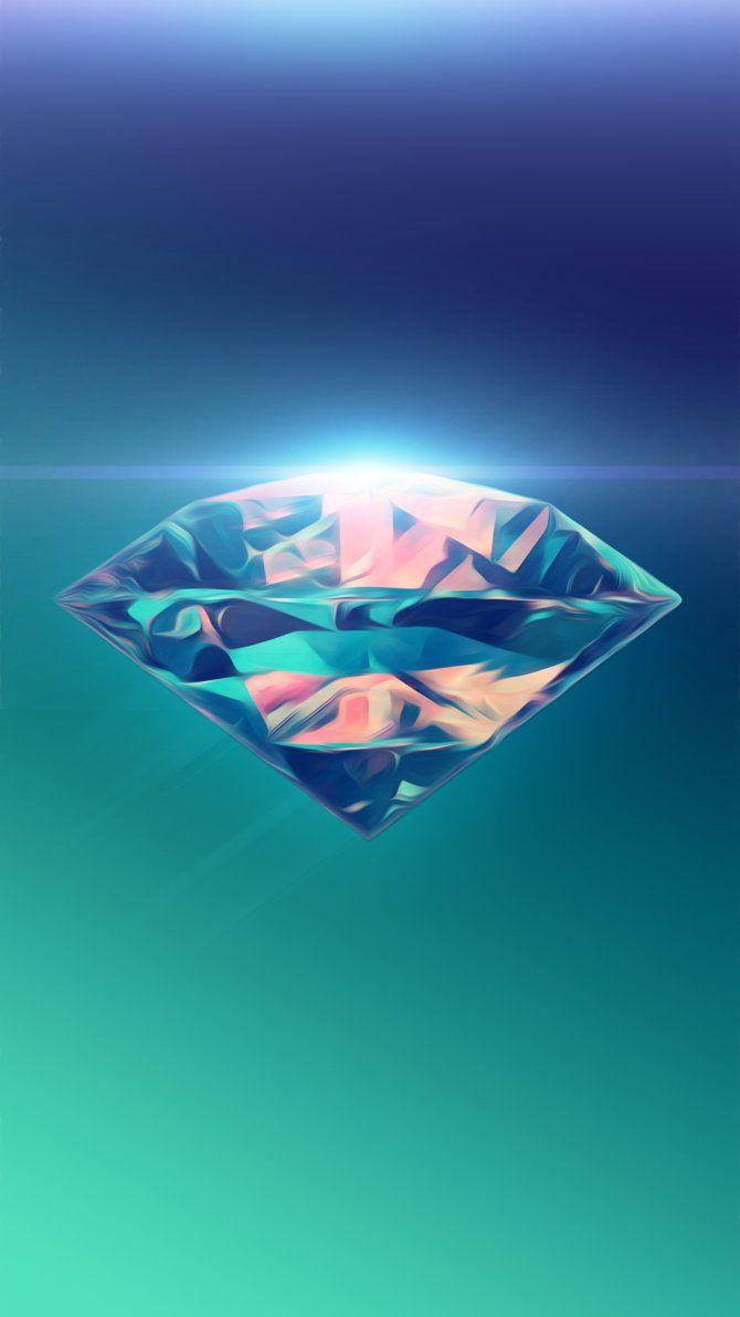 Diamond Abstract Phone Wallpaper by SilentPotatoGFX on