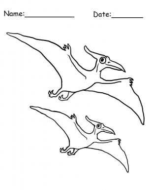 Flying Dinosaur Coloring Sheet Kids Colour In Dinosaure