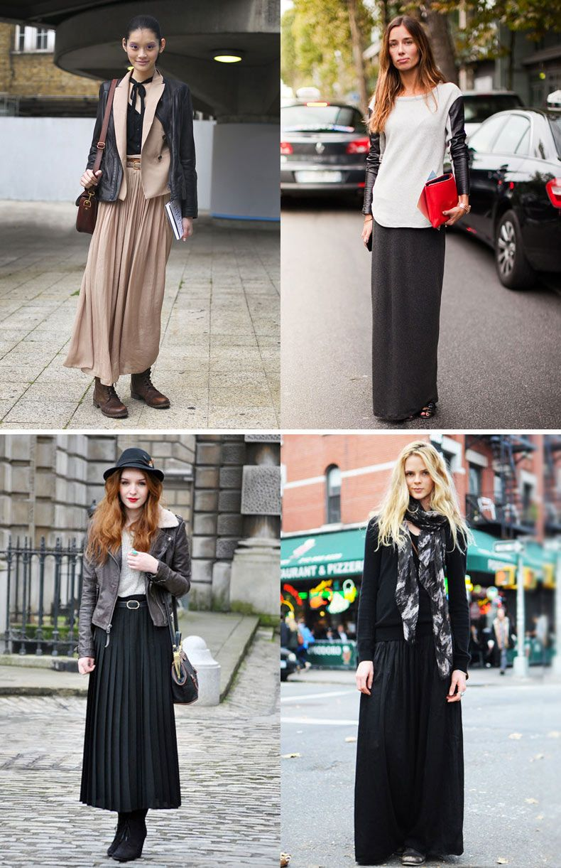 gonna lunga inverno outfits | Gonne lunghe, Gonna lunga