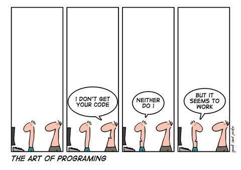 The art of programming - Funny pic ~ WhatsApp Jokes, Puzzles ...