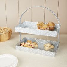 Thoby Galvanized Tiered Stand